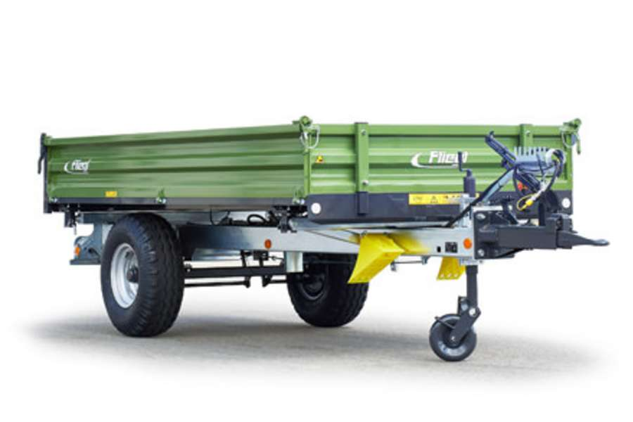 One-axle three-way tipper