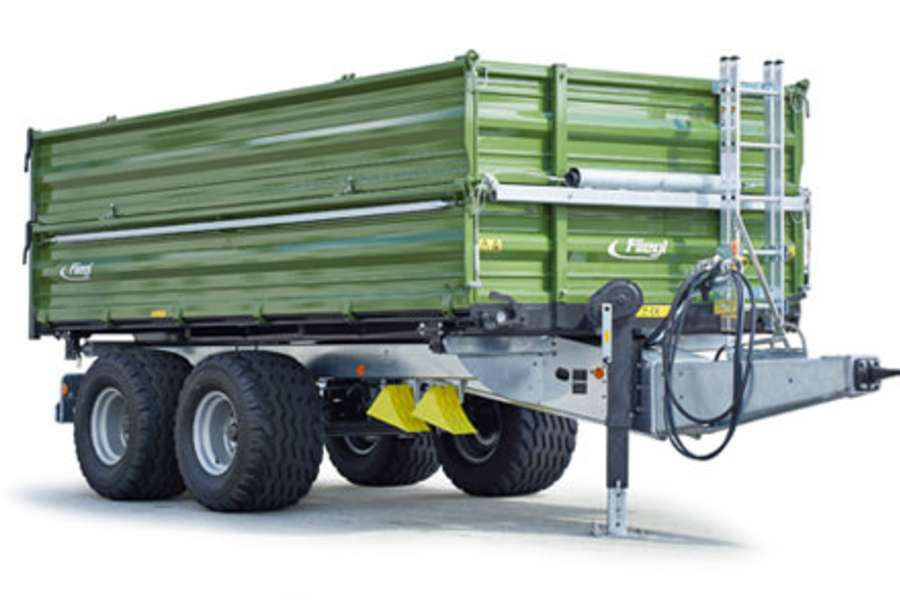 Tandem three-way tipper